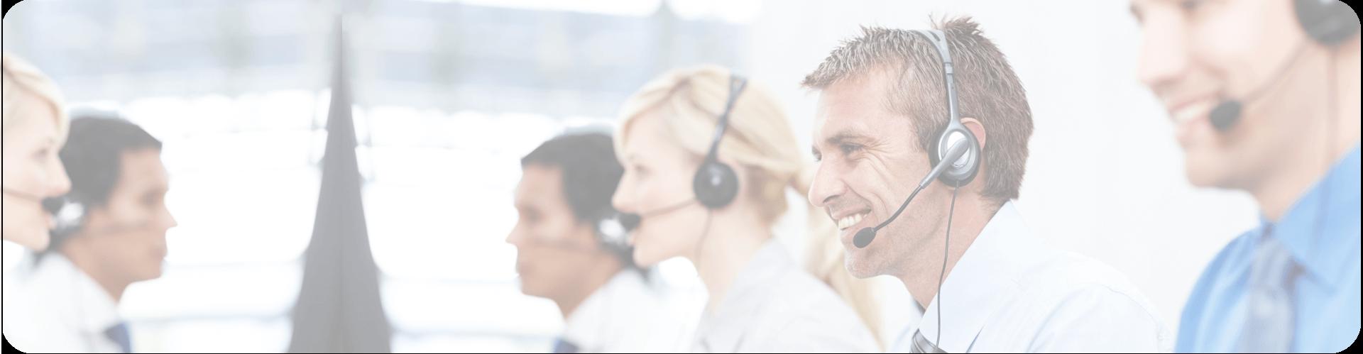 helpdesk operators wearing headsets