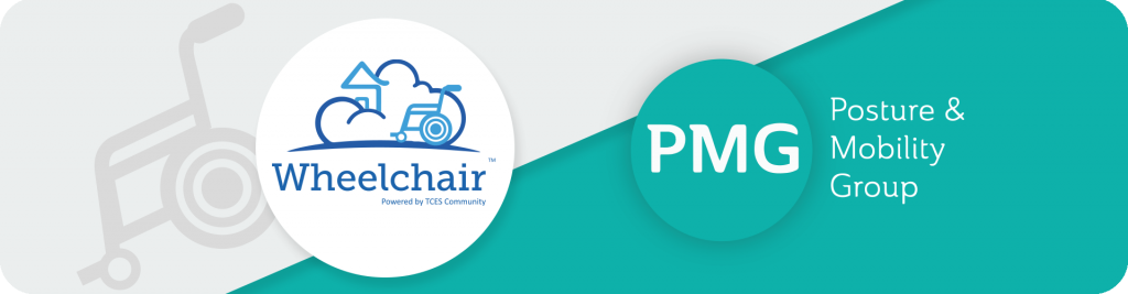 TCES wheelchair and PMG logos