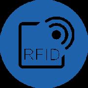 rfid logo in blue