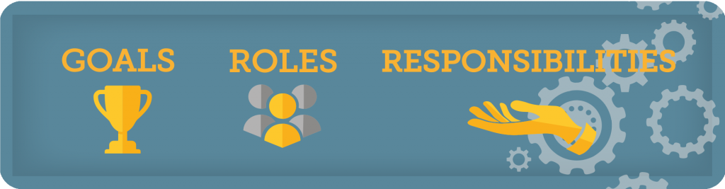 goals roles and responsibilities banner