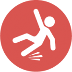 slipping person icon