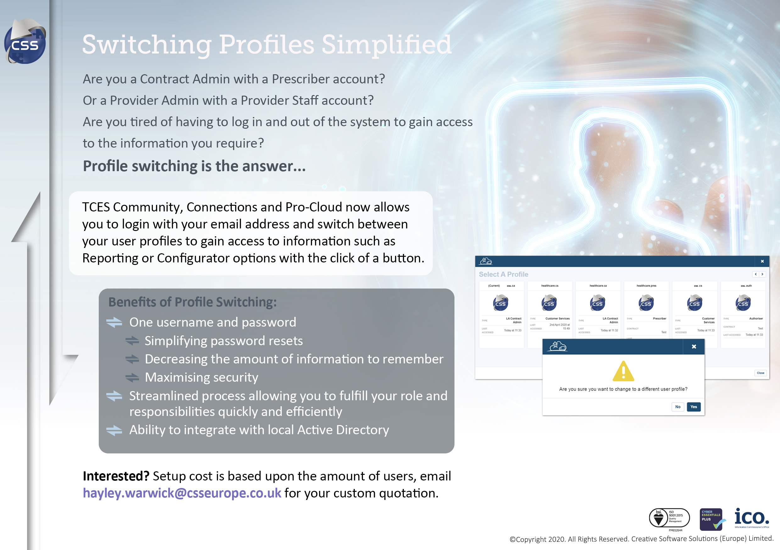 profile switching flyer
