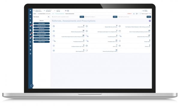 referrals screenshot on laptop