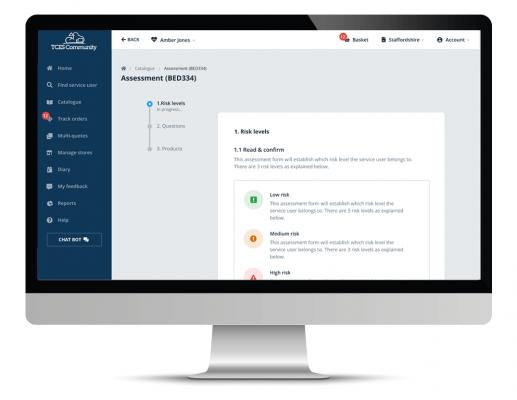 clinical assessment toolkit screenshot on desktop computer