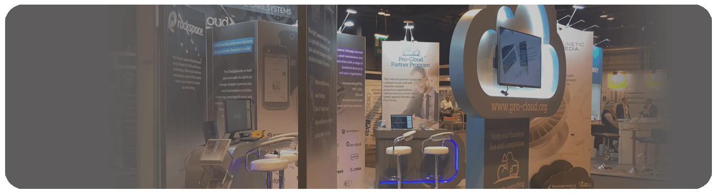 scotland works exhibition stand for Pro-Cloud