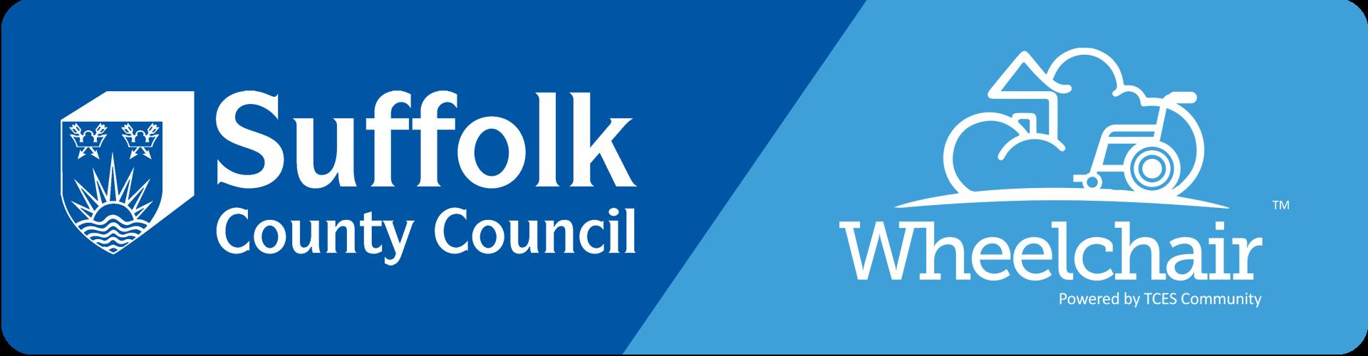suffolk county council logo and TCES Wheelchair logo