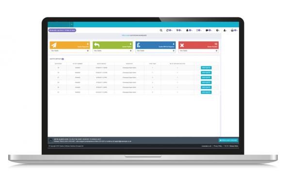 supplier module screenshot on laptop