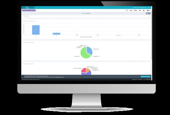 client relationship management screenshot on desktop computer