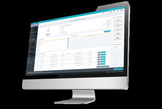 client relationship management screenshot on a desktop computer