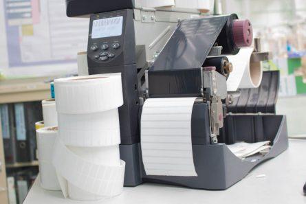 zebra label printer showing the inside workings