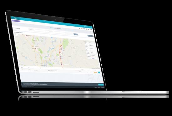 routing screenshot on laptop