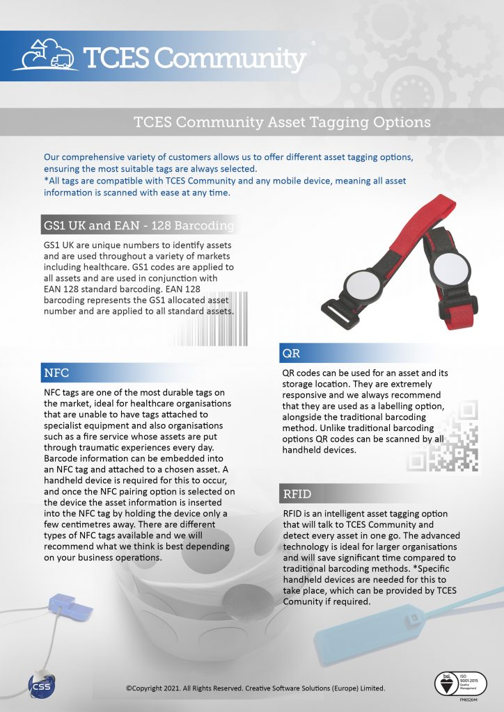 TCES asset labelling flyer